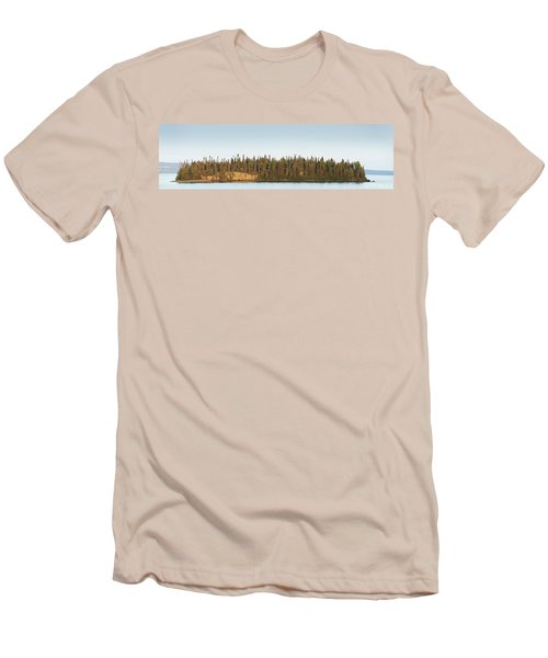 Trees Covering An Island On Lake Men's T-Shirt (Athletic Fit)