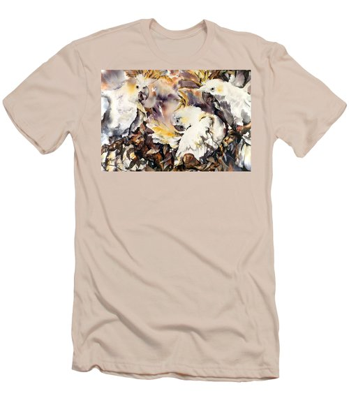 Men's T-Shirt (Slim Fit) featuring the painting Two's Company by Rae Andrews