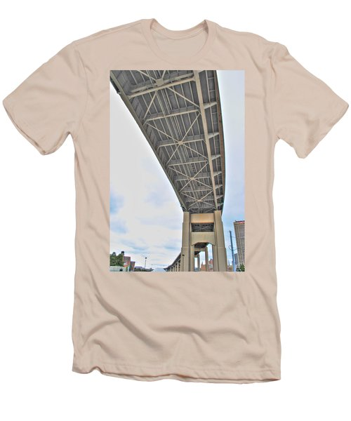 Men's T-Shirt (Slim Fit) featuring the photograph Under The Skyway by Michael Frank Jr