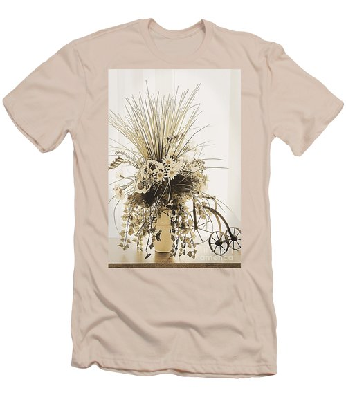 Vase With Flowers On A Window Table Men's T-Shirt (Athletic Fit)