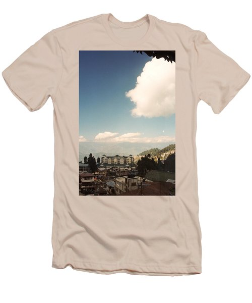 Men's T-Shirt (Slim Fit) featuring the photograph View From The Window by Fotosas Photography