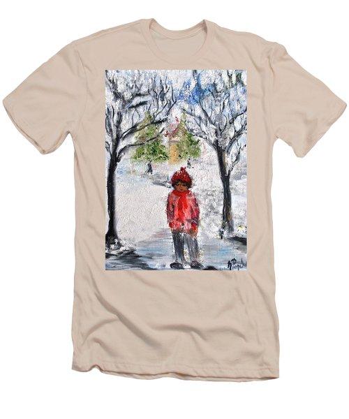 Walking Alone Men's T-Shirt (Slim Fit) by Evelina Popilian