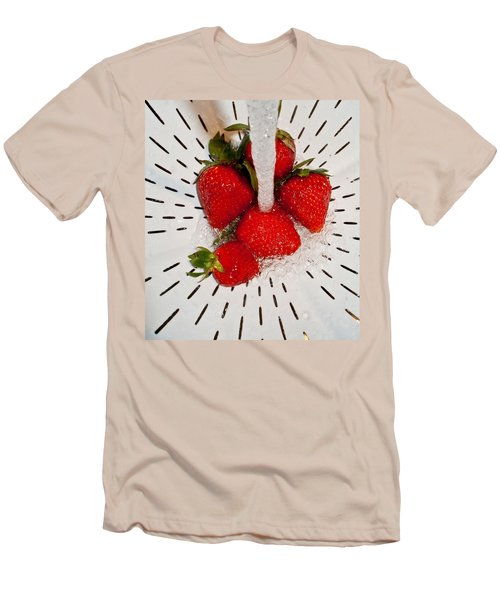 Men's T-Shirt (Slim Fit) featuring the photograph Water For Strawberries by David Pantuso