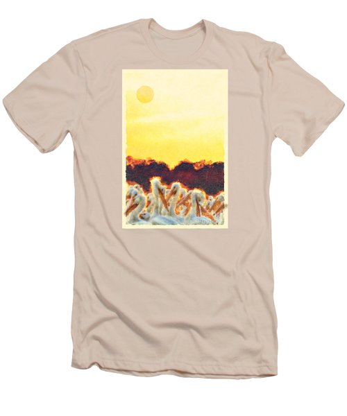Men's T-Shirt (Slim Fit) featuring the photograph White Pelicans In Sun by Dan Friend