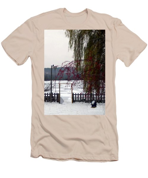 Willows And Berries In Winter Men's T-Shirt (Athletic Fit)
