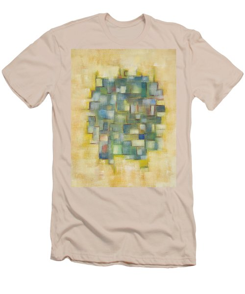 Yellow With Green  Men's T-Shirt (Slim Fit) by Patricia Cleasby