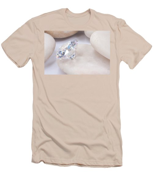 Diamond On White Stone Men's T-Shirt (Slim Fit) by Atiketta Sangasaeng