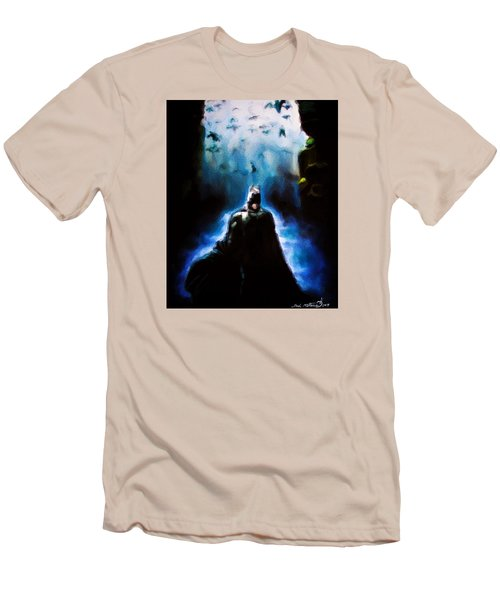 Men's T-Shirt (Slim Fit) featuring the painting  Into The Cave by Darryl Matthews