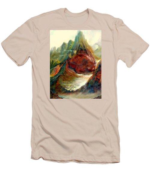 Mountains Fire Men's T-Shirt (Slim Fit) by Henryk Gorecki