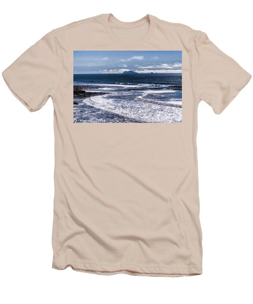 Men's T-Shirt (Slim Fit) featuring the photograph  Point Loma And Islos Los Coronados by Daniel Hebard