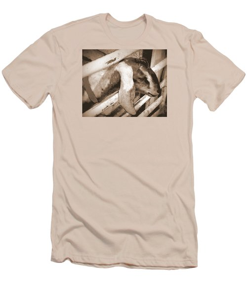 Men's T-Shirt (Slim Fit) featuring the photograph A Friend by Jodie Marie Anne Richardson Traugott          aka jm-ART