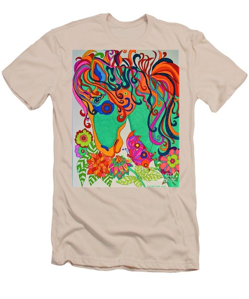 A Rainbow Called Romeo Men's T-Shirt (Slim Fit) by Alison Caltrider