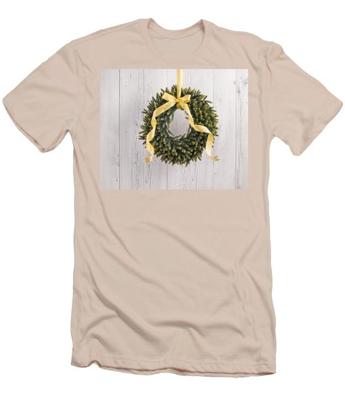 Men's T-Shirt (Slim Fit) featuring the photograph Advents Wreath by Ulrich Schade