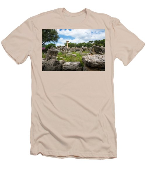 Ancient Olympia / Greece Men's T-Shirt (Slim Fit) by Stavros Argyropoulos