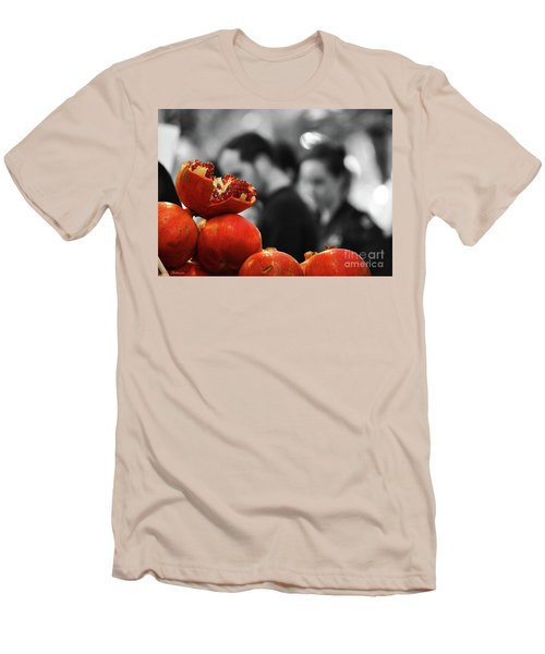 Men's T-Shirt (Slim Fit) featuring the photograph At The Market by Arik Baltinester