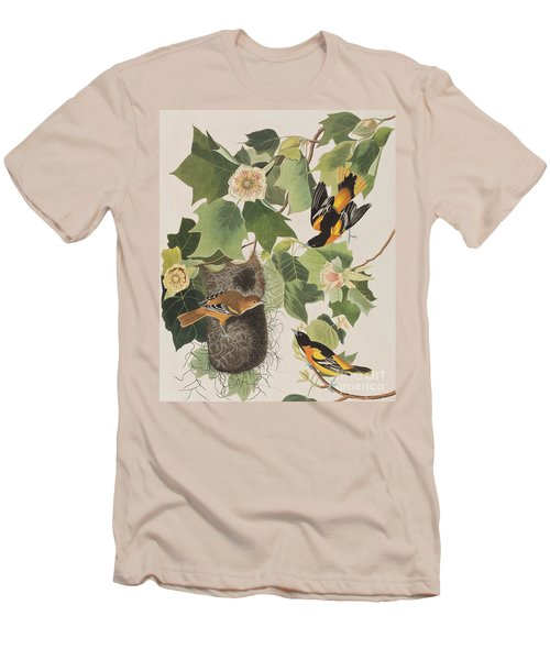 Baltimore Oriole Men's T-Shirt (Slim Fit) by John James Audubon