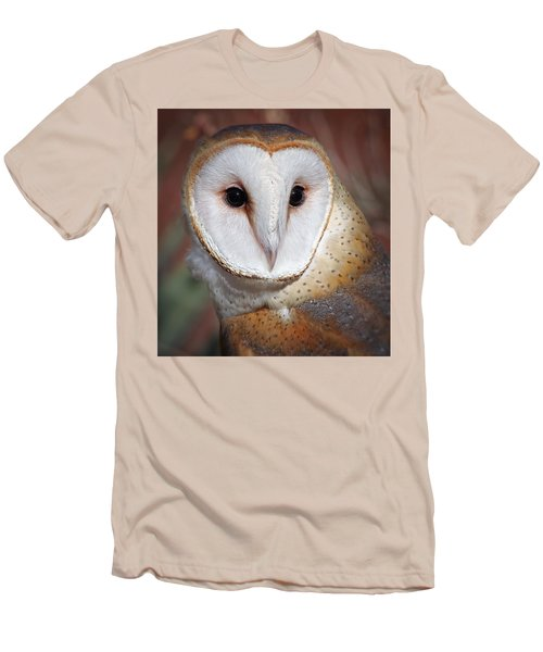 Barn Owl Men's T-Shirt (Slim Fit) by Elaine Malott
