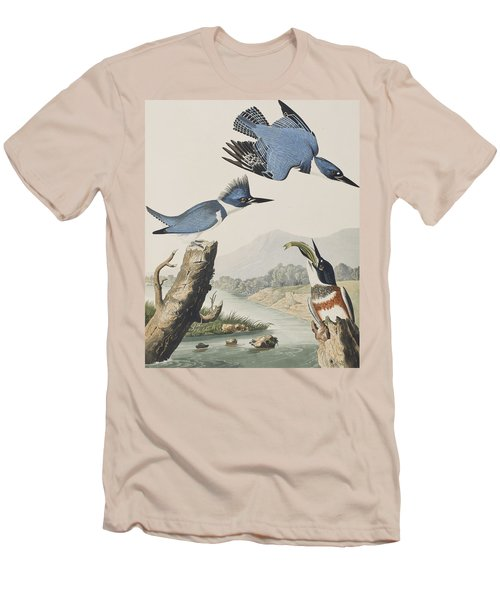 Belted Kingfisher Men's T-Shirt (Slim Fit) by John James Audubon