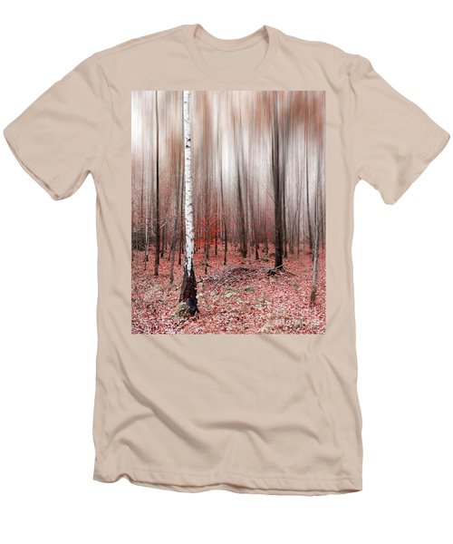 Men's T-Shirt (Slim Fit) featuring the photograph Birchforest In Fall by Hannes Cmarits