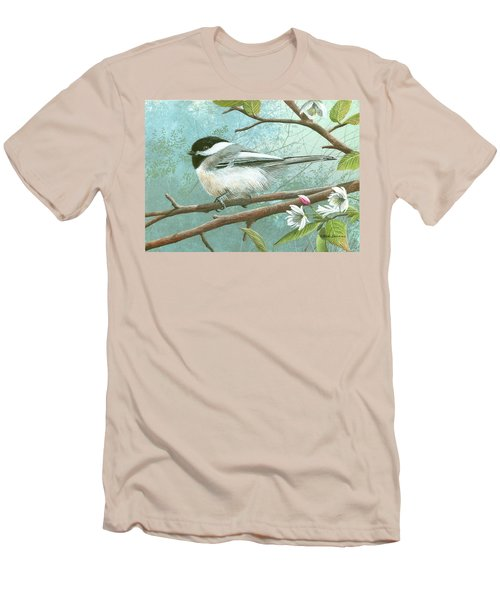 Black Cap Chickadee Men's T-Shirt (Slim Fit) by Mike Brown