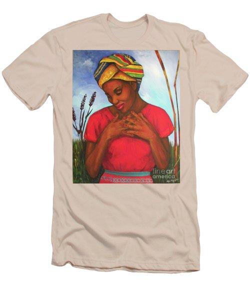 Blessed Men's T-Shirt (Slim Fit) by Alga Washington