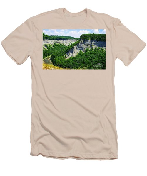 Men's T-Shirt (Slim Fit) featuring the photograph Canyon  by Raymond Earley