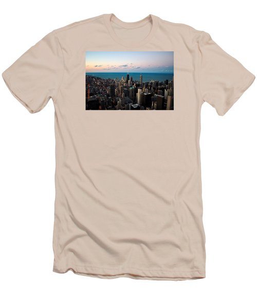 Chicago Skyline 2 Men's T-Shirt (Athletic Fit)