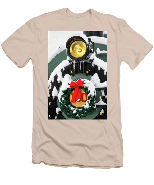 Christmas Train At Pacific Junction Men's T-Shirt (Athletic Fit)