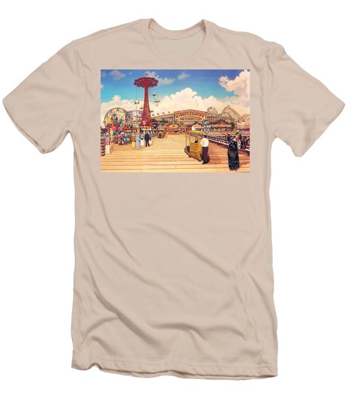 Coney Island Boardwalk Men's T-Shirt (Athletic Fit)