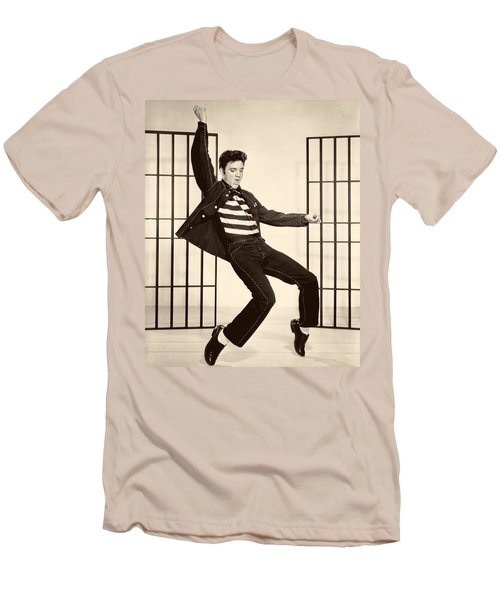 Elvis Presley In Jailhouse Rock 1957 Men's T-Shirt (Athletic Fit)