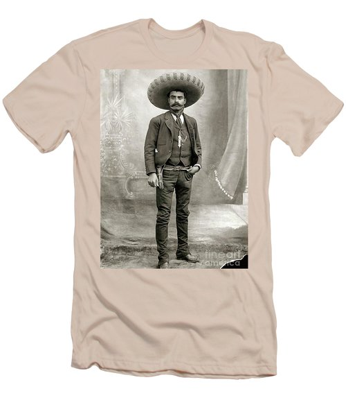 Men's T-Shirt (Slim Fit) featuring the photograph Emiliano Zapata by Pg Reproductions