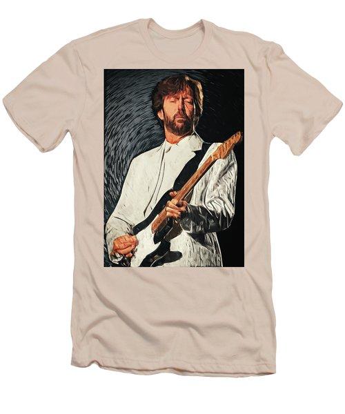 Eric Clapton Men's T-Shirt (Slim Fit) by Taylan Apukovska