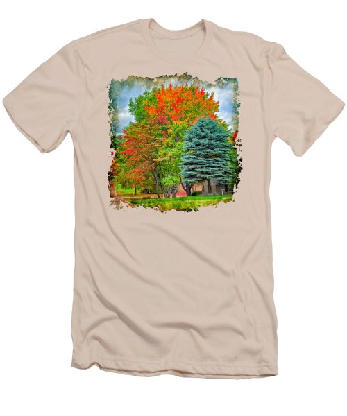 Fall Colors Men's T-Shirt (Slim Fit) by John M Bailey