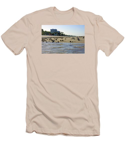 Fighting Conchs At Lowdermilk Park Beach In Naples, Fl Men's T-Shirt (Athletic Fit)