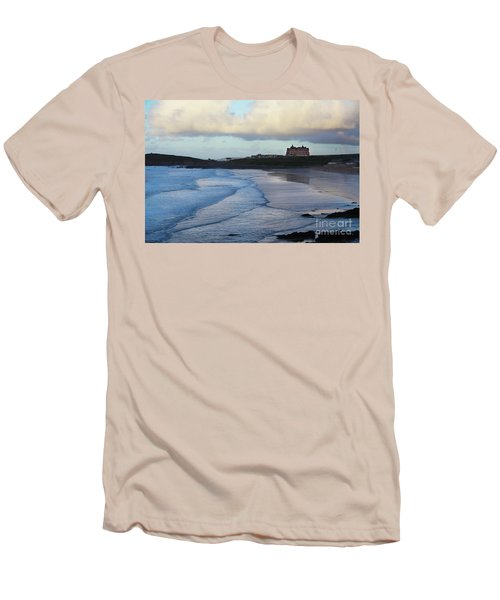 Men's T-Shirt (Slim Fit) featuring the photograph Fistral Beach by Nicholas Burningham