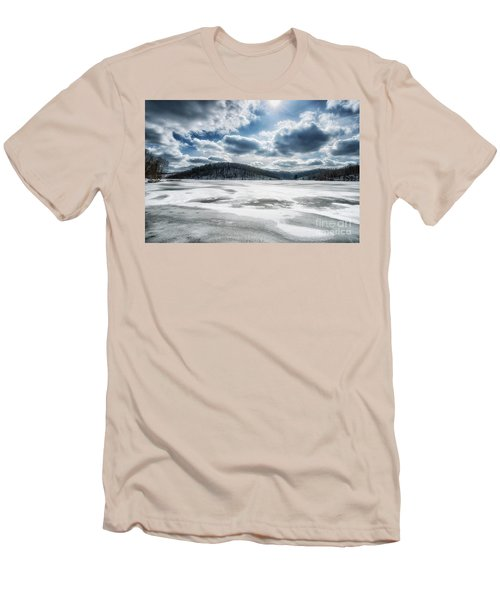 Frozen Lake Men's T-Shirt (Slim Fit) by Thomas R Fletcher