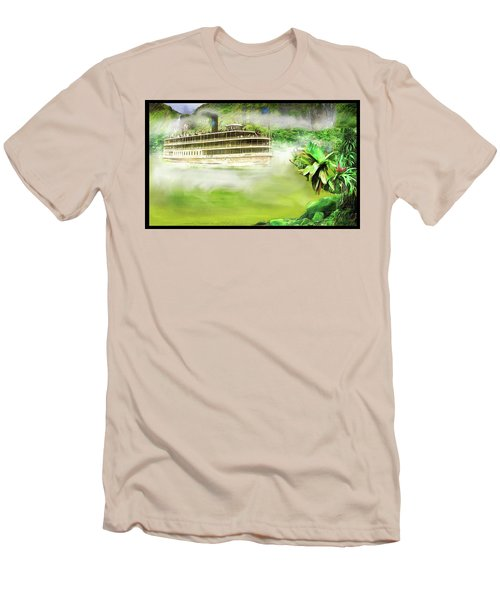 Men's T-Shirt (Slim Fit) featuring the drawing Heart Of Darkness by Michael Cleere