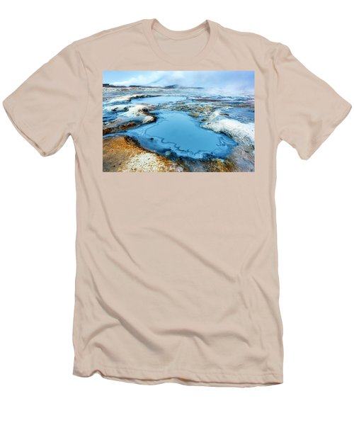 Hverir Steam Vents In Iceland Men's T-Shirt (Athletic Fit)