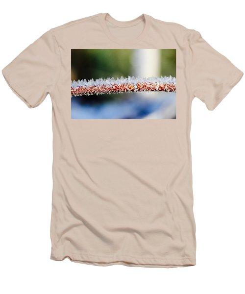 Ice Crystals Men's T-Shirt (Slim Fit) by Tiffany Erdman