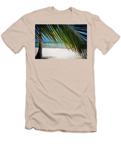 Men's T-Shirt (Slim Fit) featuring the photograph Key West Palm by Kelly Wade