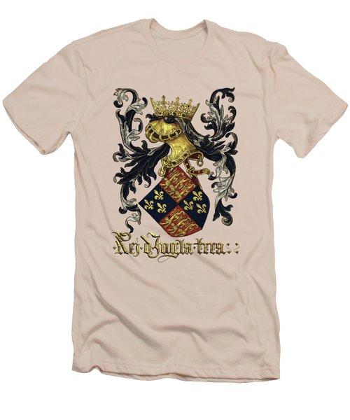 King Of England Coat Of Arms - Livro Do Armeiro-mor Men's T-Shirt (Athletic Fit)