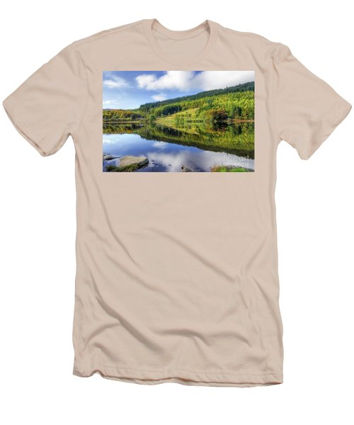 Lake Geirionydd Men's T-Shirt (Slim Fit) by Ian Mitchell