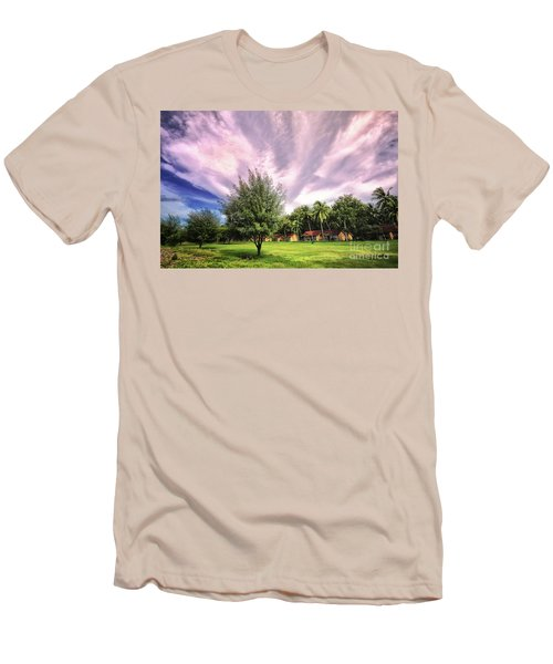 Men's T-Shirt (Slim Fit) featuring the photograph Landscape  by Charuhas Images