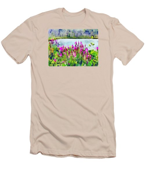 Loosestrife Blooming At Sleepy Hollow Pond Men's T-Shirt (Athletic Fit)