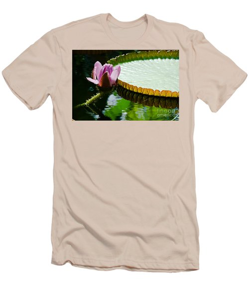 Men's T-Shirt (Slim Fit) featuring the painting Lotus Flower by Yurix Sardinelly