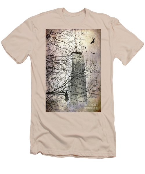 Men's T-Shirt (Slim Fit) featuring the photograph Memorial by Judy Wolinsky