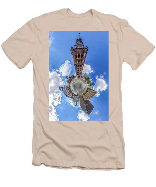 Men's T-Shirt (Athletic Fit) featuring the photograph Milwaukee City Hall by Randy Scherkenbach
