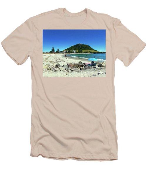 Mount Maunganui Beach 1 - Tauranga New Zealand Men's T-Shirt (Slim Fit) by Selena Boron