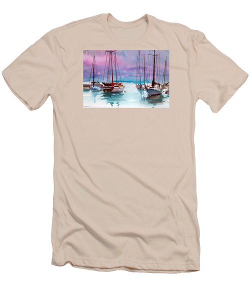 Men's T-Shirt (Slim Fit) featuring the painting Phang-nga Bay by Ed Heaton