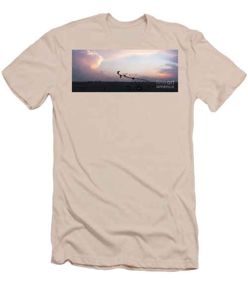 Pivot Irrigation And Sunset Men's T-Shirt (Athletic Fit)